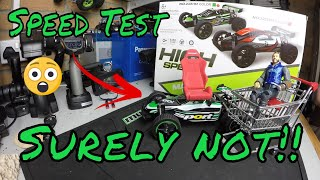 This never happens with a cheap Chinese RC Toy car! Speed Test