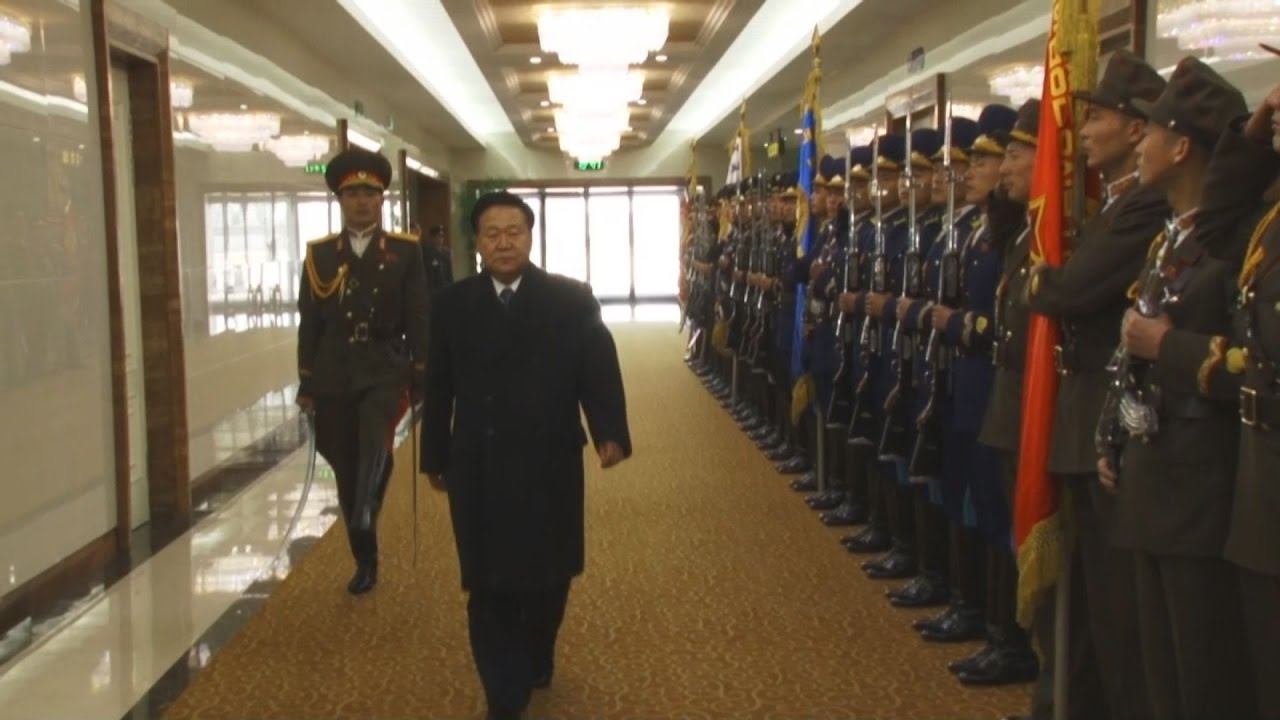 北朝鮮の特使帰国