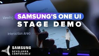 One UI stage demo at Samsung's Developer Conference 2018
