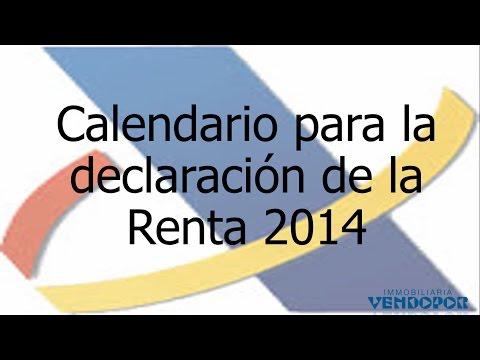 El Calendario para presentar la RENTA 2014 - 2015 en AEAT Calendario 2015