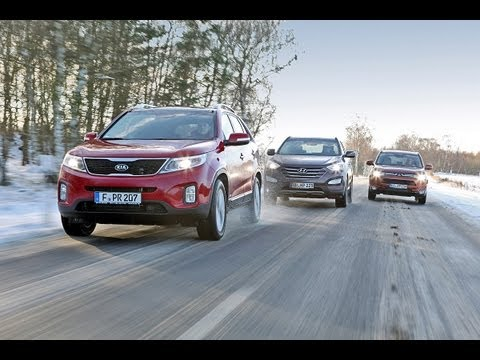 Kia Sorento, Hyundai Santa Fe, Mitsubishi Outlander - Asiaten im Voll-SUV