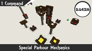 Special Parkour Mechanics |  Minecraft One Command | 1.9.4