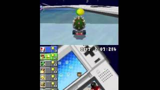 Mario kart DS: How to take 3 baloons with one powerup [Explanation]