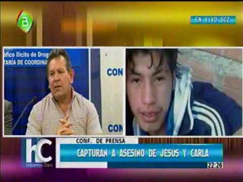 Conferencia de Prensa, capturaron a Eliot Leon el asesino de Jesus y Carla