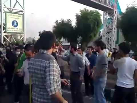 دفاع مردم post election unrest in Iran Tehran Tazahorat Part2 تظاهرات در تهران1