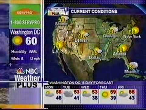 Nbc Weather Plus 10 26 08 6 30 Pm Et Youtube