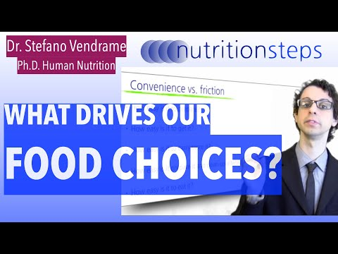 Nutrition Steps 2.5 - What drives our food choices?