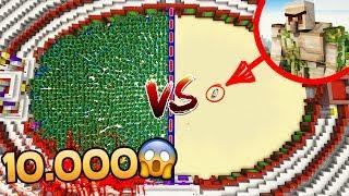 10.000 ZOMBIES VS 1 GOLEM MUTANTE 😱 MINECRAFT ROLEPLAY ARENA #2
