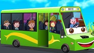 Bánh xe trên xe buýt | vần điệu cho trẻ em | Wheels On the Bus