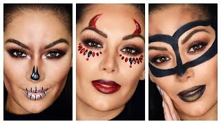 10 MINUTE QUICK AND EASY HALLOWEEN MAKEUP LOOKS | Beauty's Big Sister