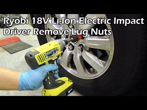 Ryobi 18V Li-Ion Cordless Electric Impact Driver Remove Lug Nuts