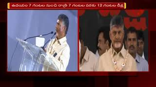 CM Chandrababu Strong Comments on BJP || Dharma Poratam Deeksha Over AP Special Status