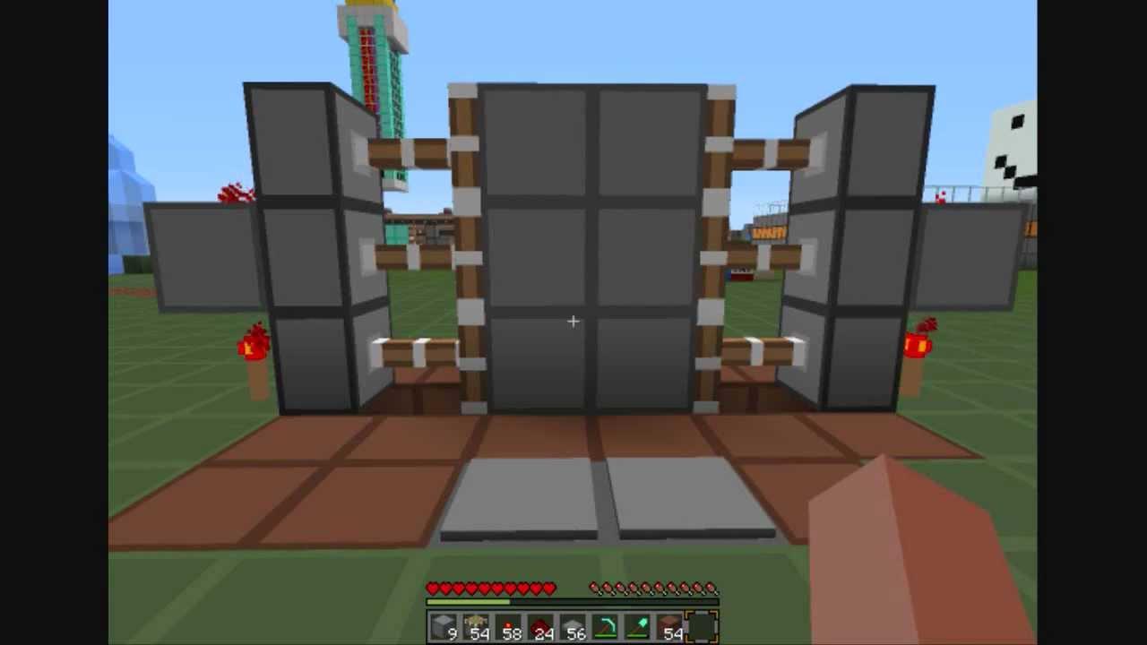 Piston Door 3x2 Minecraft Piston Door 3x2