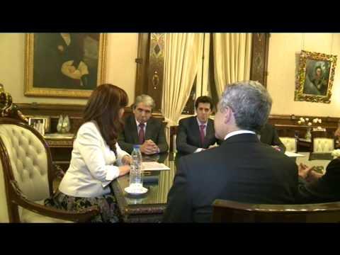 26 de MAR. Cristina Fernández se reunió con el Jefe de Gobierno de México DF.