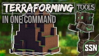 Minecraft - CREATE MOUNTAINS AND LANDSCAPES | Terraforming Tools [One Command]