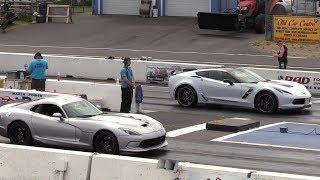 2018 Chevy Corvette Grand Sport vs Dodge Viper - drag race