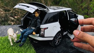 Unboxing of Mini Range Rover Vogue SV 1/18 Diecast Car with Interiors | Land Rover Lifestyle