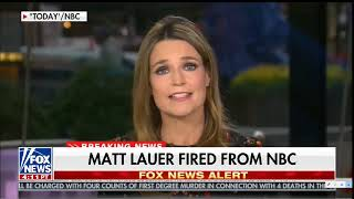 Jew Matt Lauer Summarily Fired For Sex Attacks