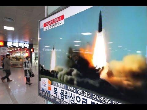 Defiant N Korea fires ballistic missile into sea