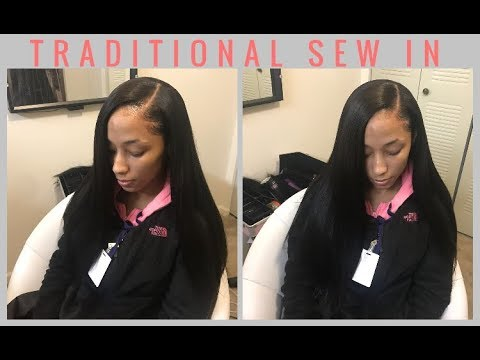 Traditional Side Part Sew In   VRBEST hair review
