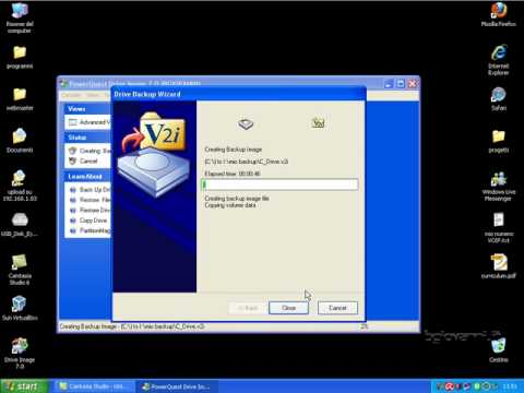 Backup Hard Disk con &quot;Power Quest Drive Image 7&quot;