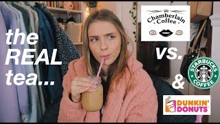 Is Emma Chamberlain's coffee BETTER than Starbucks and Dunkin? (the real tea)