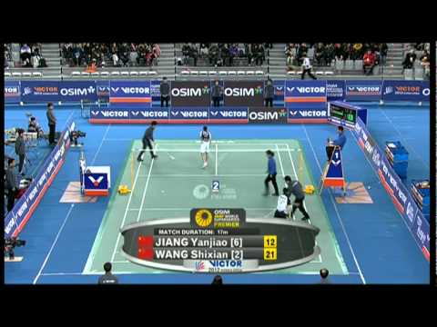 Finals - WS - Wang S. vs Jiang Y. - 2012 Victor Korea Open