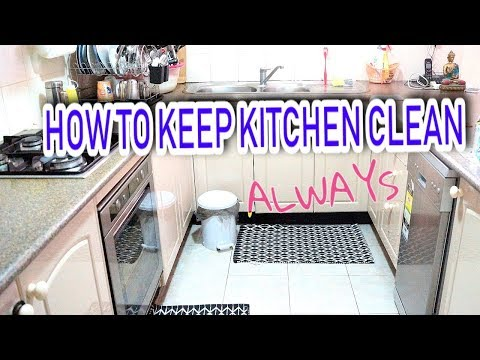 How To Keep Kitchen Clean In TELUGU | 10 Kitchen Cleaning TIPS in Telugu