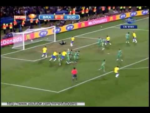 Brazil vs South Africa GOAL DANIEL ALVES FIFA Confederations Cup South Africa 2009