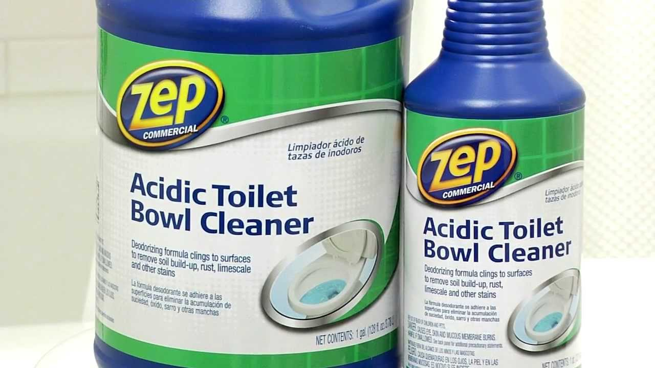 Zep commercial acidic toilet bowl cleaner youtube for Commercial bathroom cleaner