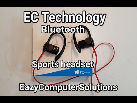 EC Technology Bluetooth Wireless Sports Headset 4.1 Headphone Earhook with Apt-X Stereo Sweat-proof