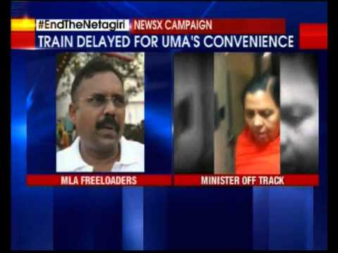Train delayed for Uma Bharti conveience