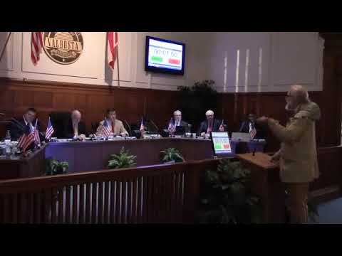 LAKE video of Suwannee Riverkeeper John S. Quarterman to Valdosta Mayor and Council, 2018-01-25