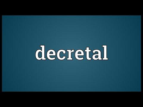 Header of decretal