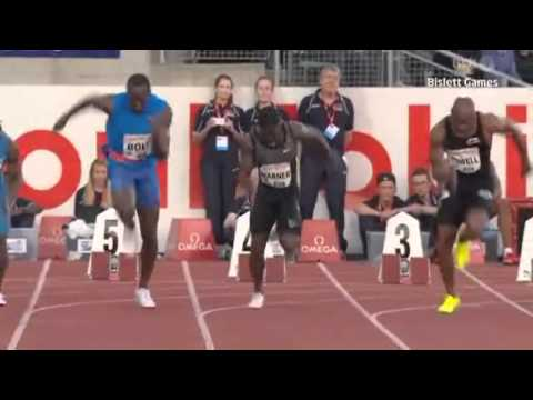 Usain Bolt sets New 100 m Record and Wins over Asafa Powell at Bislett Games Oslo Norway