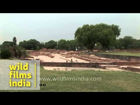 Ancient Buddhist monasteries and Dhamekh Stupa Monument Site - Sarnath