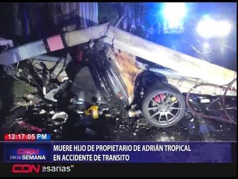 Muere hijo de propietario de Adrián Tropical en accidente de tránsito