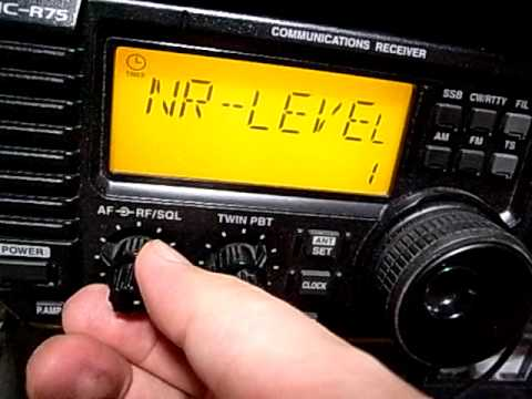 Icom IC-R75 Optional Noise Reduction UT-106 (What they call DSP): 2368.5kHz Radio Symban