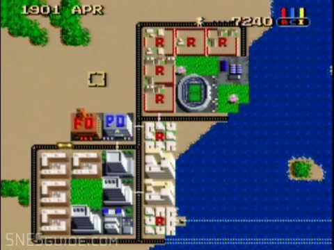 SimCity - SNES Gameplay