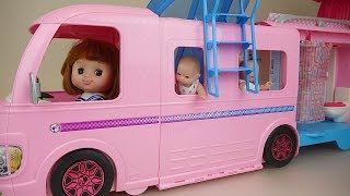 Baby doll bus and camping car toy baby Doli play