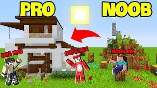 Thăm Nhà Noob Xây Nhà Hiện Đại Pro Cho Noob Trong Minecraft*GUMBALL MINECRAFT