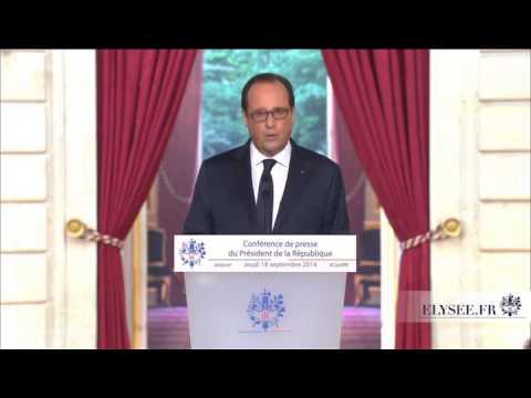 Paris: 4e Conférence de Presse de François Hollande
