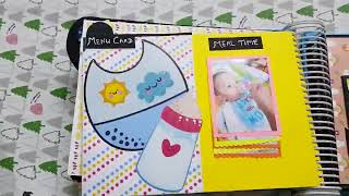 Handmade Scrapbook Baby Boy First Year by Devashree