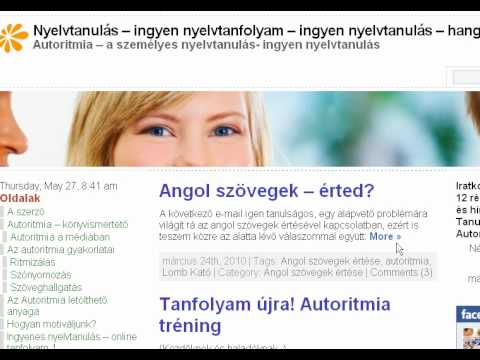 ingyen hangos knyv letlts, angol szvegek, angol gyakorls- Autoritmia
