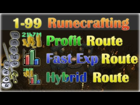 ULTIMATE 1-99 Runecrafting Guide 2014! | Oldschool 2007 Runescape | Best Profit, Best Exp, or Both!