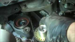 Timing belt replacement Toyota Sienna 2006 PART 2 V6 3.3L Water Pump Install Remove Replace How to