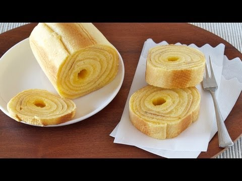 How to Make Baumkuchen (German Layered Cake) at home バームクーヘンの作り方 (レシピ)