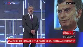 """Aníbal Fernández: """"Es impresentable lo que dice Macri"""""""