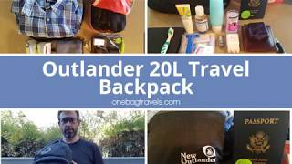 Outlander 20L Travel Backpack - Packing for 4 days of travel
