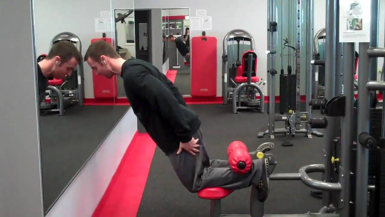 Glute Ham Raise Modified Youtube